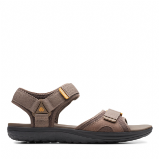 Clarks Mens Step Beat Sun Brown Sandals